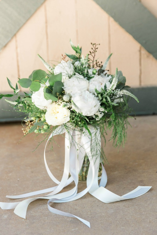 Cream Hypericum Berries Seeded Eucalyptus Silver Dollar Touches Of Queen Pittosporum And Italian Ruscus Wedding Bouquet